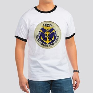 uss plymouth rock patch transparent Ringer T