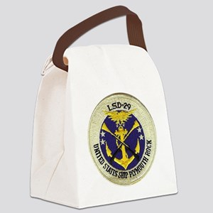 uss plymouth rock patch transpare Canvas Lunch Bag