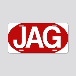 Jag1 rd for yllw Aluminum License Plate