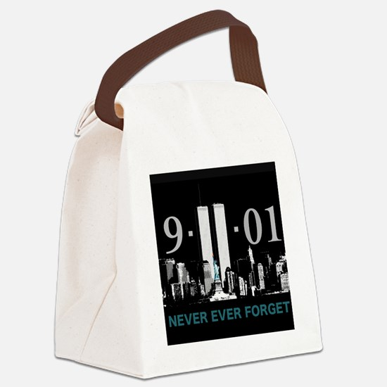 Never Ever Forget Canvas Lunch Bag