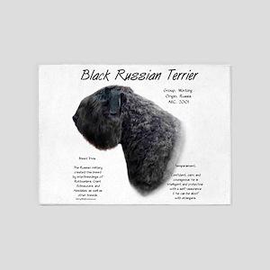 Black Russian Terrier 5'x7'Area Rug