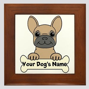 Personalized French Bulldog Framed Tile