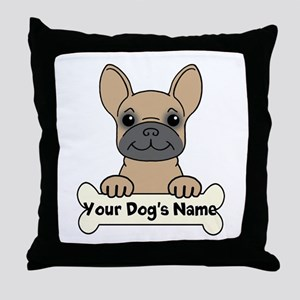 Personalized French Bulldog Throw Pillow