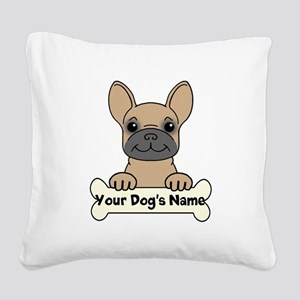 Personalized French Bulldog Square Canvas Pillow