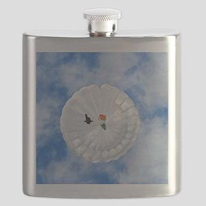 Parachute seen from below Flask