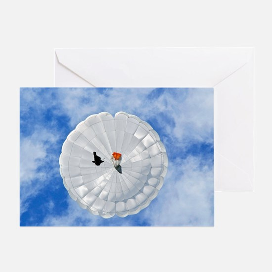 Parachute seen from below Greeting Card