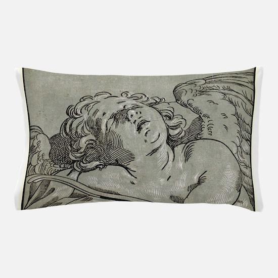 Head of Cupid - Batolomeo Coriolano - c1650 Pillow