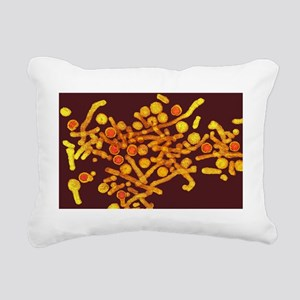 Coloured TEM of hepatiti Rectangular Canvas Pillow