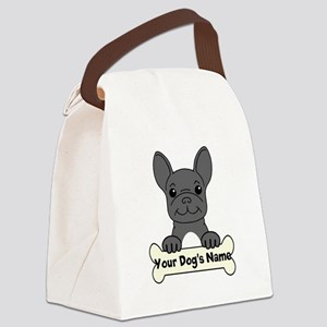 Personalized French Bulldog Canvas Lunch Bag