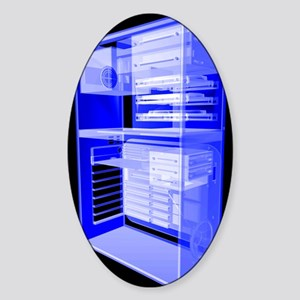 Personal computer, simulated x-ray Sticker (Oval)