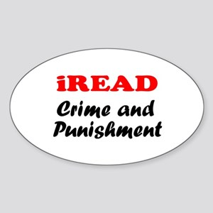 iREAD Crime and Punishment Oval Sticker