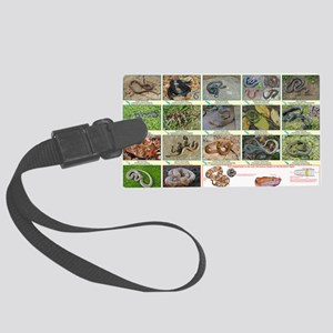 Snakes of Northern Neck Large Luggage Tag