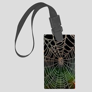 Photo of a web of Araneus diadem Large Luggage Tag