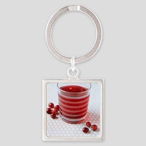 Cranberry juice Square Keychain