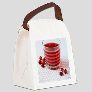 Cranberry juice Canvas Lunch Bag