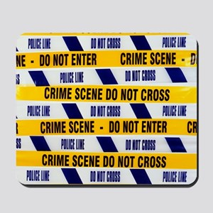 Crime scene tape Mousepad