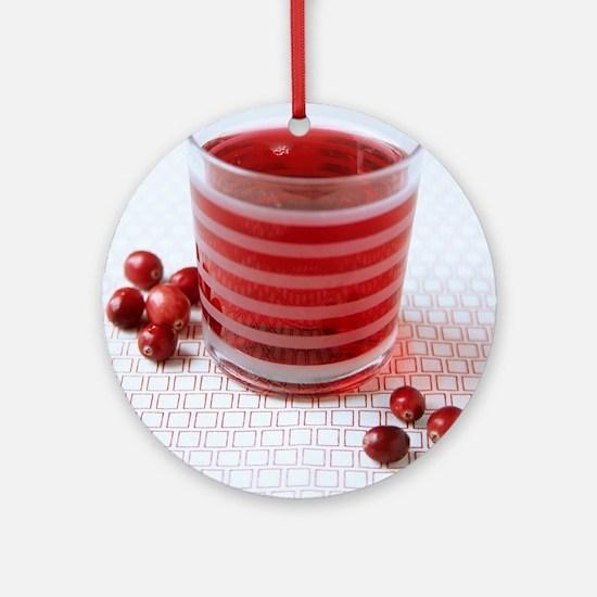 Cranberry juice Round Ornament