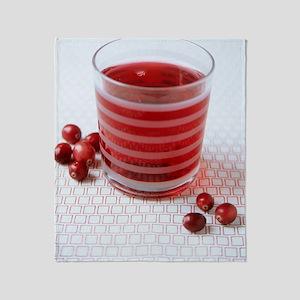 Cranberry juice Throw Blanket