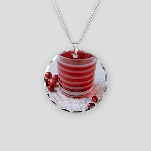 Cranberry juice Necklace Circle Charm