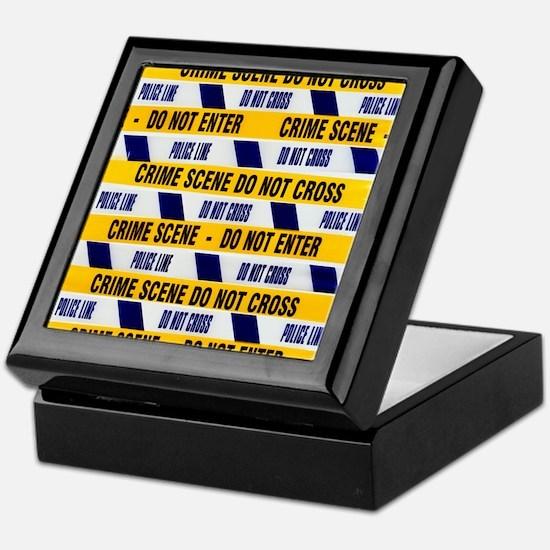 Crime scene tape Keepsake Box