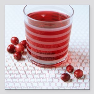 "Cranberry juice Square Car Magnet 3"" x 3"""