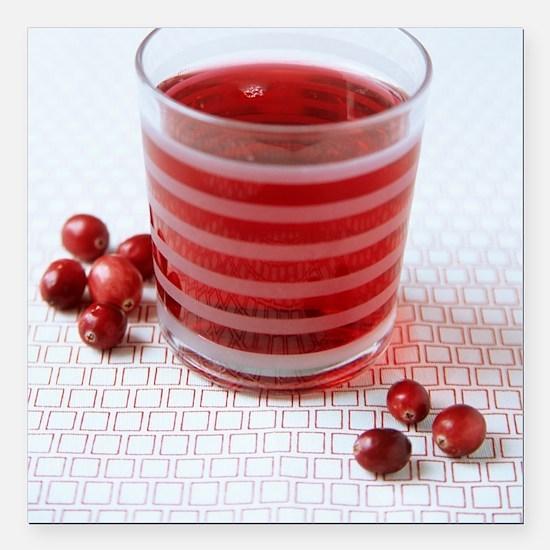 """Cranberry juice Square Car Magnet 3"""" x 3"""""""