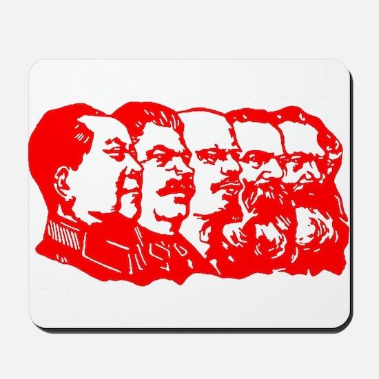 Mao,Stalin,Lenin,Engels,Marx Mousepad