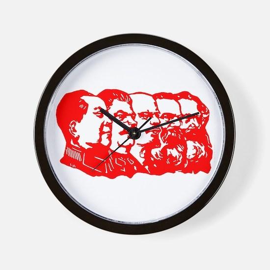 Mao,Stalin,Lenin,Engels,Marx Wall Clock