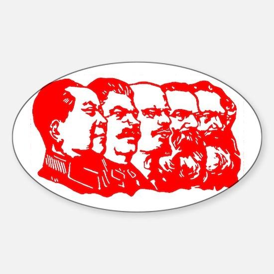 Mao,Stalin,Lenin,Engels,Marx Sticker (Oval)