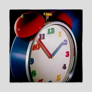 Colourful alarm clock Queen Duvet