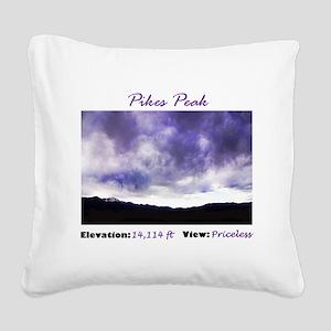 Pikes Peak Priceless Square Canvas Pillow