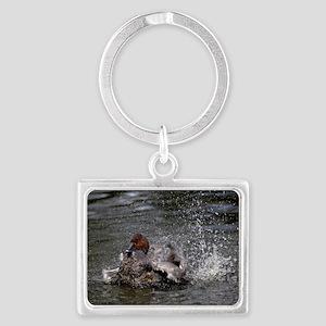 Pochard duck Landscape Keychain
