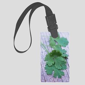 Coriander leaves Large Luggage Tag