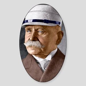 Count Ferdinand von Zeppelin, inven Sticker (Oval)