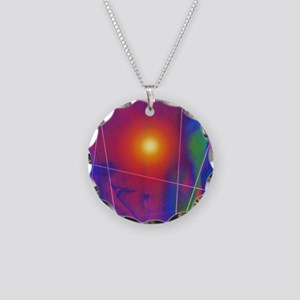 Computer artwork depicting s Necklace Circle Charm