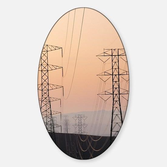 Power lines Sticker (Oval)