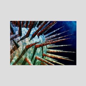 Computer artwork of a virus Rectangle Magnet