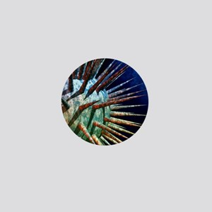 Computer artwork of a virus Mini Button