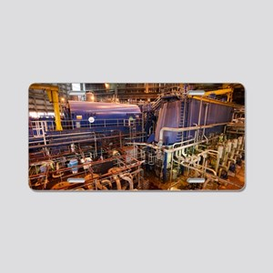 Power station turbine hall Aluminum License Plate