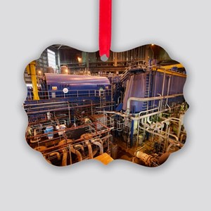 Power station turbine hall Picture Ornament