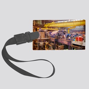Power station turbine hall Large Luggage Tag