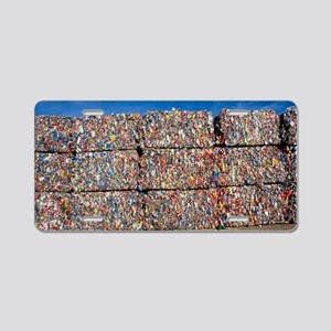 Plastic recycling Aluminum License Plate