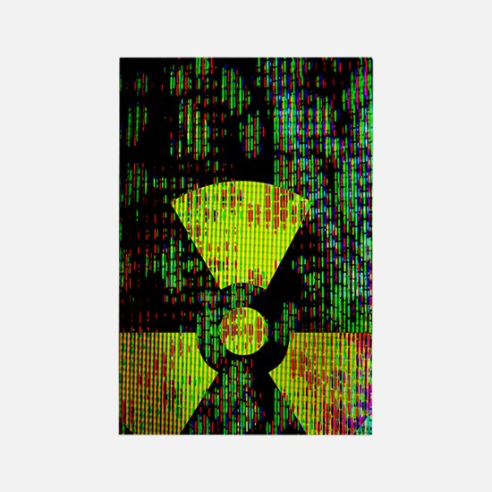Radiation hazard Rectangle Magnet