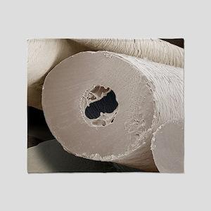Polar bear insulating hair, SEM Throw Blanket