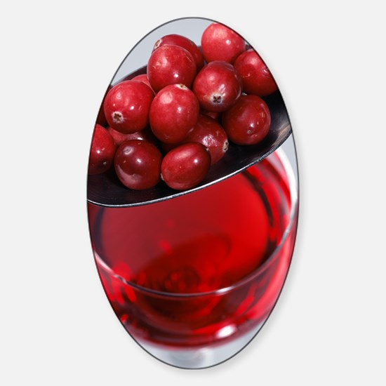 Cranberries and cranberry juice Sticker (Oval)