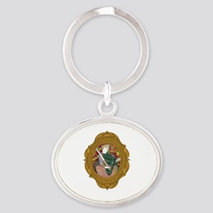 William the Conqueror White Oval Keychain