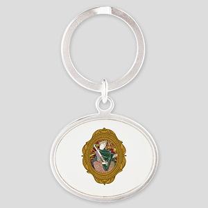 William the Conqueror White Oval Keychain