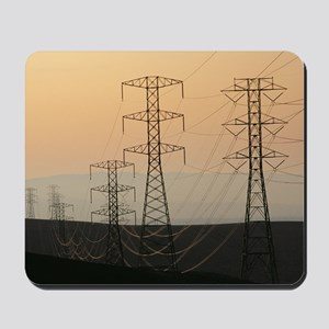 Power lines Mousepad