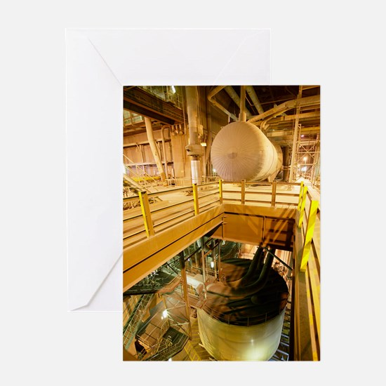 Power station machinery Greeting Card