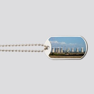 Power station cooling towers Dog Tags
